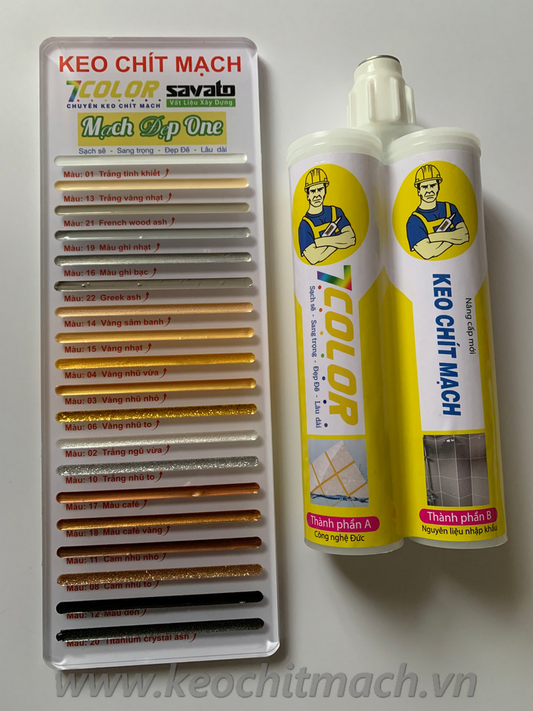Keo chít mạch 7 Color chống bụi bẩn chống thấm chống rêu mốc